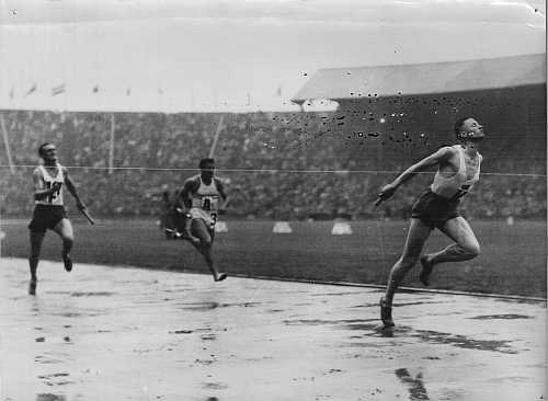 finish 4*100m ploeg os 1948 serie